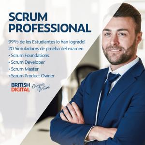 Certificación en Scrum Professional a través de British Digital LLC.